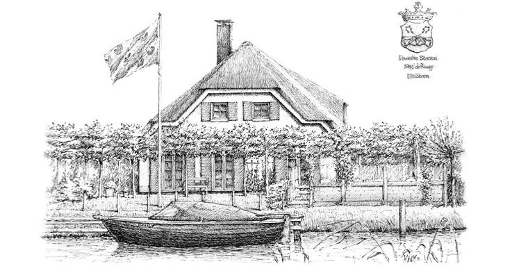 Pentekening huis of woning laten maken pentekening van foto restaurant of bedrijf - Foto van eigentijds huis ...