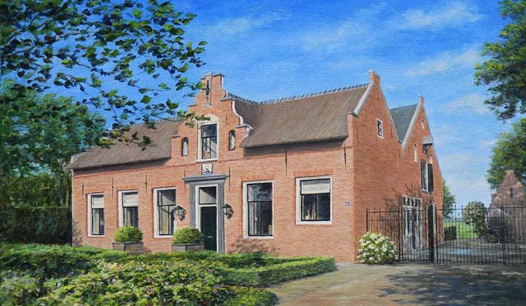 Schilderijen in opdracht huizen huis villa bungalow for Huis hypotheekvrij maken